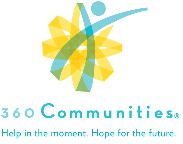 360 communities logo help in the moment hope for the future all in light blue text | genz ryan